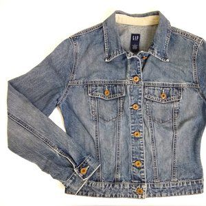 GAP Womans Classic Jean Jacket Sz S / Sp 2000